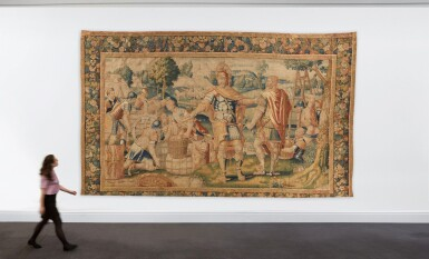 View 4. Thumbnail of Lot 34. A Flemish Classical Tapestry, Oudenaarde, second half 16th century.