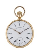 PATEK PHILIPPE   CARLOS GONDOLO YELLOW GOLD OPEN-FACED WATCH MADE IN 1874