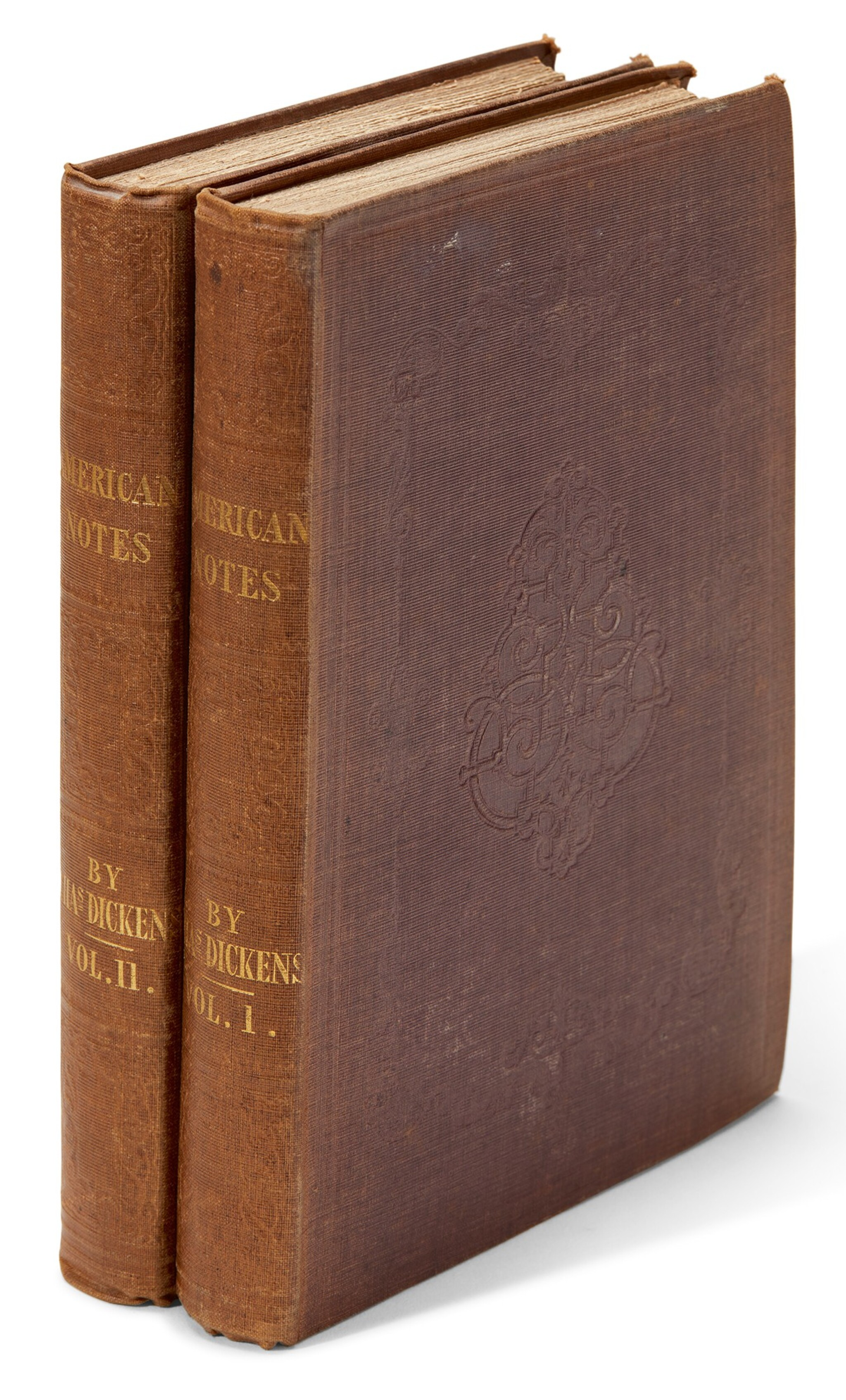 View full screen - View 1 of Lot 82. Dickens, American Notes for General Circulation, 1842, first edition.