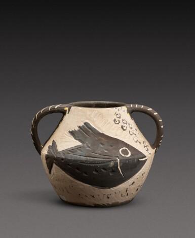 View 4. Thumbnail of Lot 14. Vase deux anses poissons (A. R. 133).