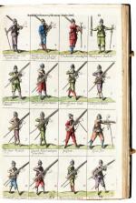 Hexham, Principles of the art militarie, London, 1637, black morocco gilt, presentation copy to Charles II