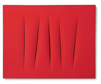 View 1. Thumbnail of Lot 119.  LUCIO FONTANA | CONCETTO SPAZIALE, ATTESE.