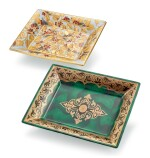 PATEK PHILIPPE   PORCELAINE DE LIMOGES,  A GROUP OF TWO COMMEMORATIVE LIMOGES PORCELAIN AND ENAMEL DISHES, CIRCA 1997 AND 2010