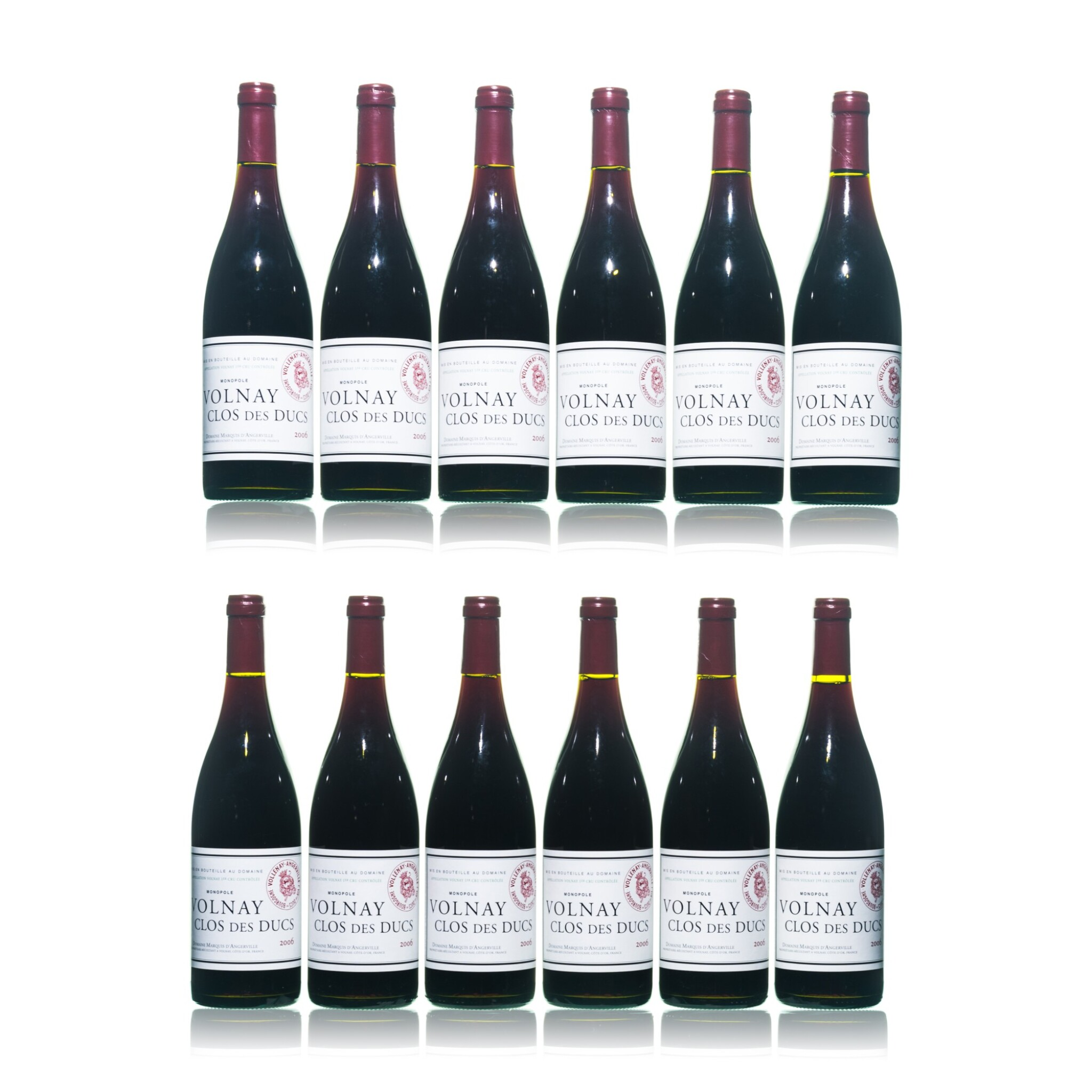 View full screen - View 1 of Lot 194. Volnay, Clos des Ducs 2006 Marquis d'Angerville (12 BT).
