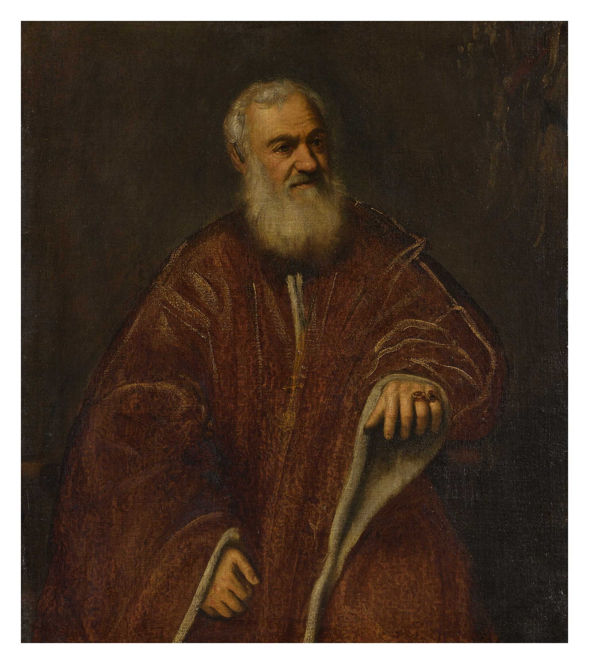 View full screen - View 1 of Lot 1. ATTRIBUTED TO JACOPO ROBUSTI, CALLED JACOPO TINTORETTO AND WORKSHOP   PORTRAIT OF A VENETIAN SENATOR.