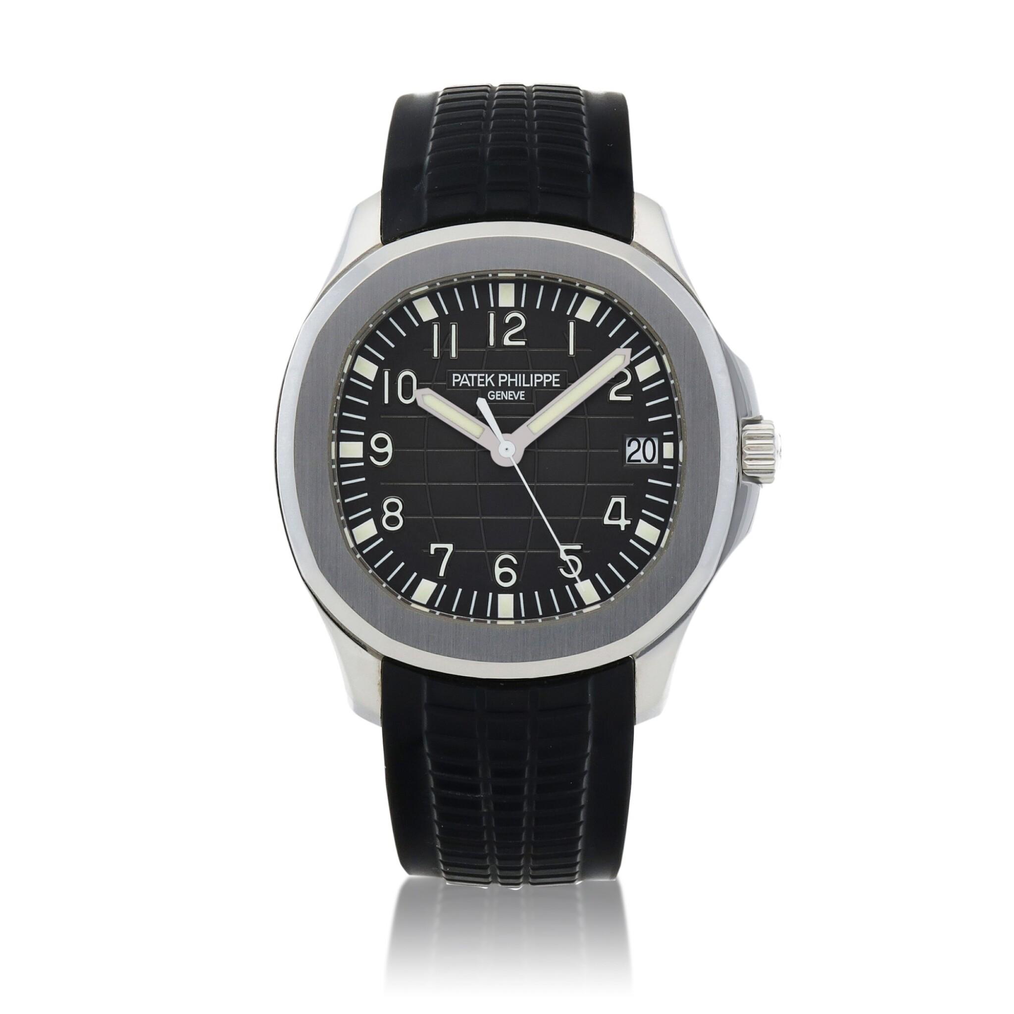 View full screen - View 1 of Lot 70. Aquanaut, Ref. 5167A Stainless steel wristwatch with date Circa 2007 | 百達翡麗 5167A型號「Aquanaut」精鋼腕錶備日期顯示,年份約2007.