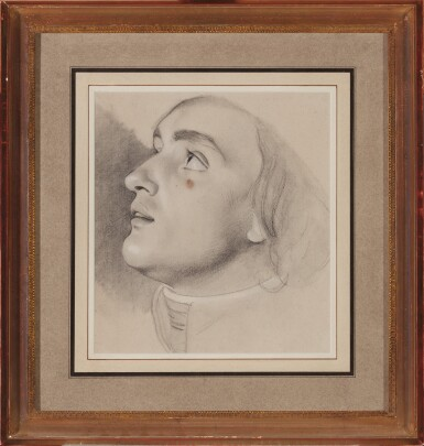 View 1. Thumbnail of Lot 61. Study for the head of Jean-Baptiste Boyer-Fonfrede.