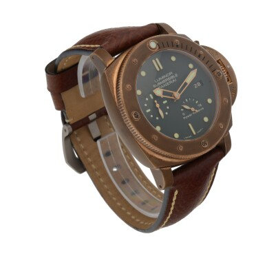 View 3. Thumbnail of Lot 904. LUMINOR SUBMERSIBLE 1950 3-DAYS AUTOMATIC BRONZO, REF PAM00507 LIMITED EDITION BRONZE WRISTWATCH WITH DATE AND POWER-RESERVE INDICATION CIRCA 2011.