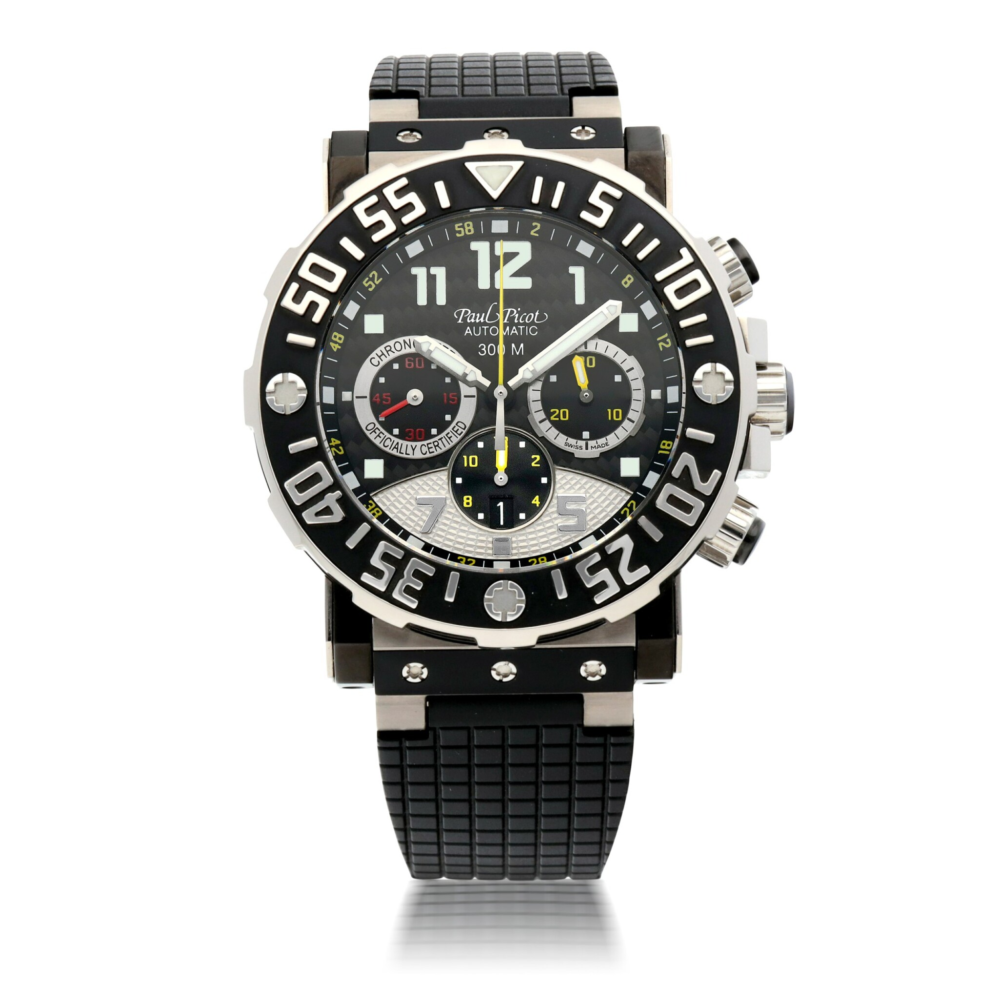 View full screen - View 1 of Lot 912. PLONGEUR C-TYPE, REF 4030 LIMITED EDITION TITANIUM CHRONOGRAPH WRISTWATCH CIRCA 2010.