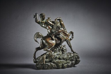 View 2. Thumbnail of Lot 244. Theseus Fighting the Centaur Bianor.