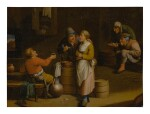 19TH CENTURY FOLLOWER OF DAVID TENIERS THE YOUNGER | A TAVERN INTERIOR WITH FIGURES
