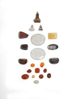 A SMALL GROUP OF CARNELIAN AND HARDSTONE INTAGLIOS AND MATRICES, VARIOUS DATES AND COUNTRIES OF ORIGINS