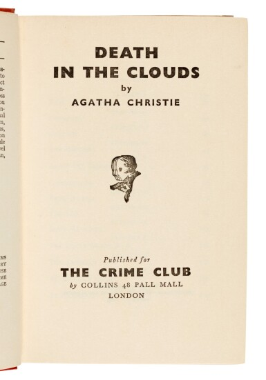 View 4. Thumbnail of Lot 48. Agatha Christie   Death in the Clouds, 1935.