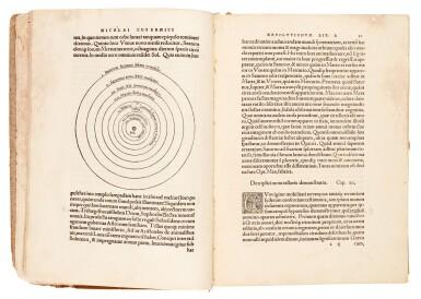 View 1. Thumbnail of Lot 11. Copernicus | De revolutionibus orbium coelestium, Nuremberg, 1543, later boards, Rostock duplicate.
