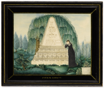 AMERICAN SCHOOL, 19TH CENTURY | WATERCOLOR MOURNING PICTURE FOR JOHN DAGGETT