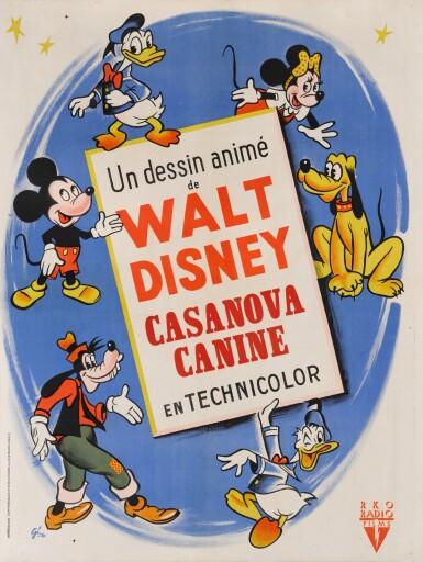 CANINE CASANOVA / CASANOVA CANINE (1945) POSTER, FRENCH