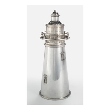 "INTERNATIONAL SILVER CO. | ""LIGHTHOUSE"" COCKTAIL SHAKER"