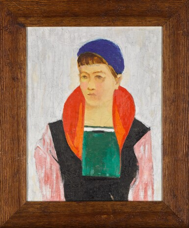 View 2. Thumbnail of Lot 112. Girl in a Blue Beret.