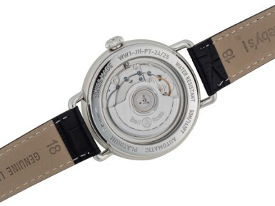 BELL & ROSS | VINTAGE WW1 HEURE SAUTANTE LIMITED EDITION PLATINUM JUMPING HOUR WRISTWATCH WITH POWER RESERVE INDICATION CIRCA 2013