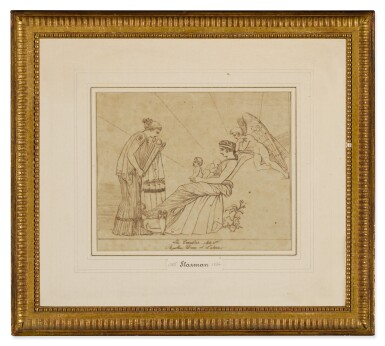 View 4. Thumbnail of Lot 38. JOHN FLAXMAN | THREE SCENES FROM LES EUMENIDES: ACTS I, 2 AND 4.