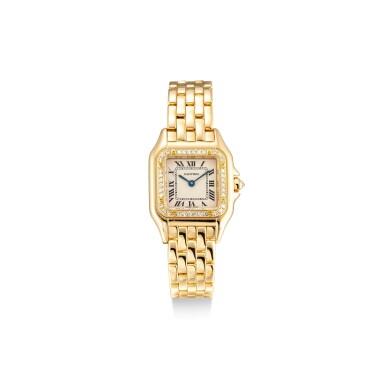 View 1. Thumbnail of Lot 8091. CARTIER   PANTHÈRE, REFERENCE 8057915   A YELLOW GOLD AND DIAMOND-SET WRISTWATCH WITH BRACELET, CIRCA 2010   卡地亞   Panthère 型號8057915    黃金鑲鑽石鏈帶腕錶,約2010年製.