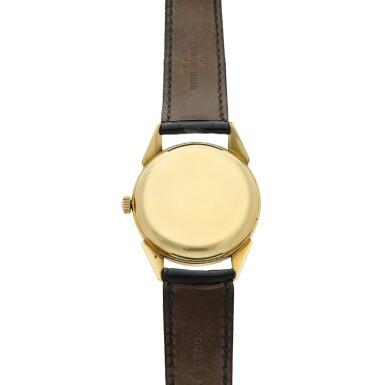 View 5. Thumbnail of Lot 117. A yellow gold wristwatch, Circa 1960 .