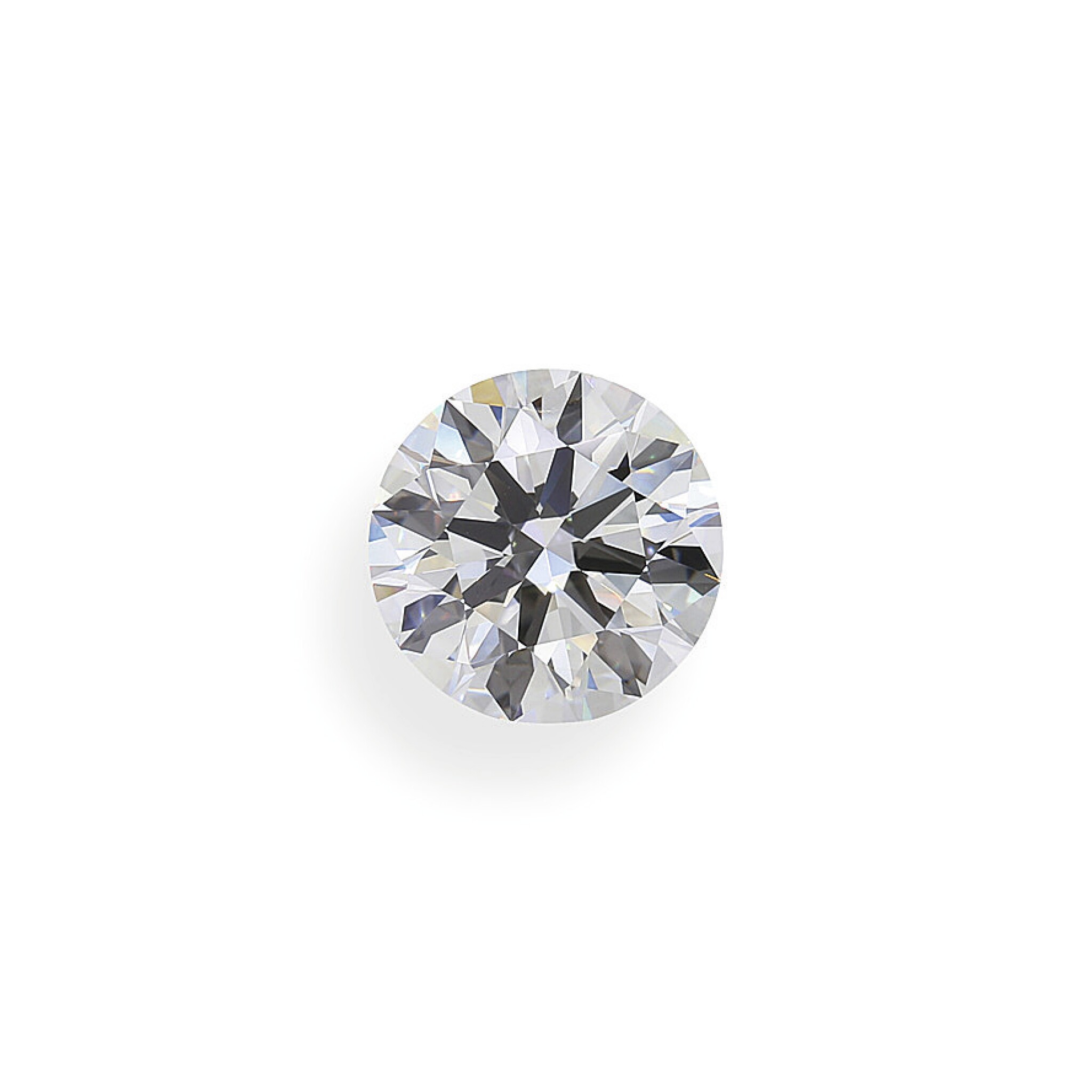 View full screen - View 1 of Lot 5. A 2.56 Carat Round Diamond, D Color, Internally Flawless.