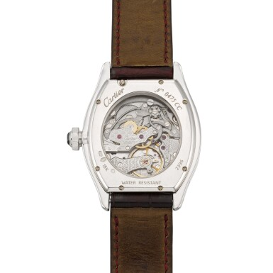 View 4. Thumbnail of Lot 30. Tortue Monopoussoir, Ref. 2396 White Gold Single-Button Chronograph Wristwatch Circa 2000.