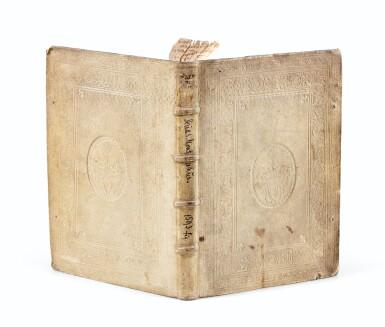 View 4. Thumbnail of Lot 7. MONTANUS. Antiquitatum iudicarum libri IX. Leyde, 1593. In-4 Rel. de l'époque à froid. 1ère et seule éd. séparée .