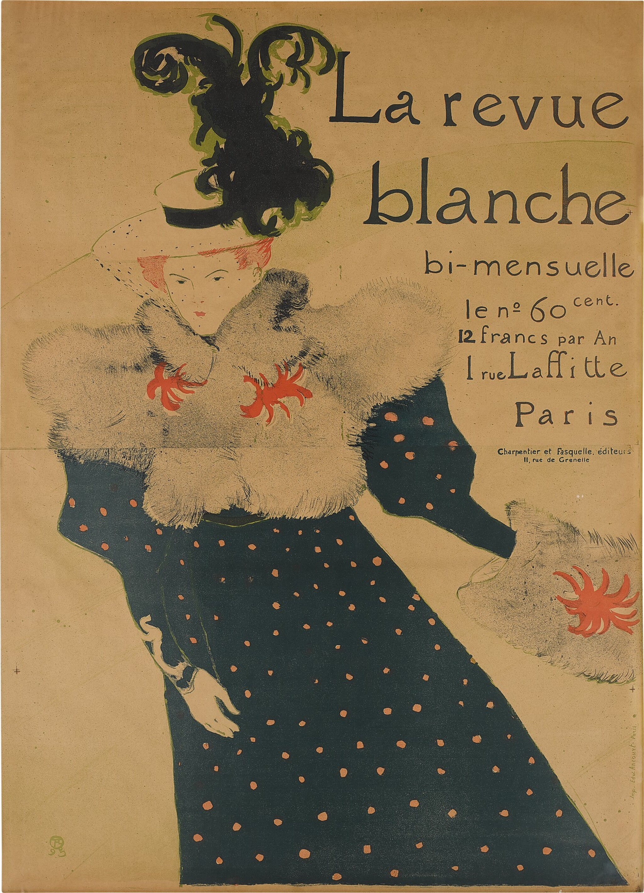 View full screen - View 1 of Lot 166. La Revue Blanche (Delteil 355; Adriani 130; Wittrock P16).
