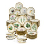 TWENTY-ONE ROYAL COPENHAGEN 'FLORA DANICA' RETICULATED LUNCHEON PLATES, 19TH CENTURY AND LATER
