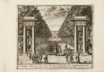 Tooneel der Voornaamste... Amsterdam, vers 1695. Relié avec : VALK. Veues et perspectives deSoesdyck.
