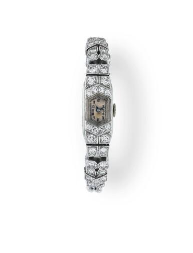 MONTRE BRACELET DE DAME DIAMANTS, VERS 1930 | LADY'S DIAMOND WRISTWATCH, 1930S