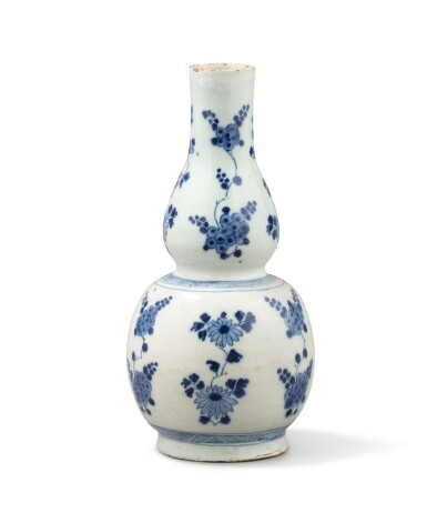 View 4. Thumbnail of Lot 279. A blue and white 'flower' bowl, China, Qing Dynasty, Kangxi period.
