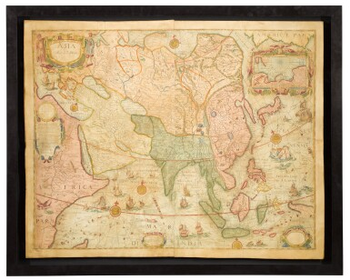 View 1. Thumbnail of Lot 39. Willem Blaeu | A set of four wall maps of the continents, 1673 or later.