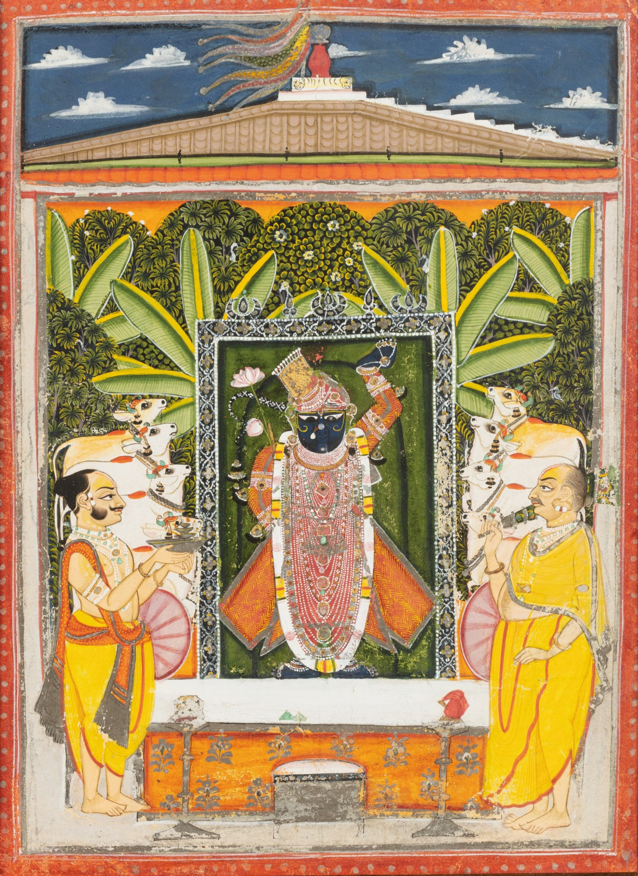 View full screen - View 1 of Lot 35. RAJASTHAN, 19TH CENTURY | SEVEN INDIAN MINIATURES.