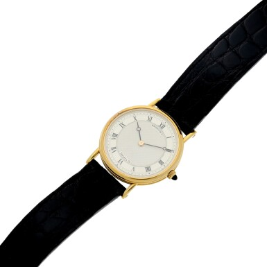 View 6. Thumbnail of Lot 204. RETAILED BY TIFFANY & CO.: A YELLOW GOLD WRISTWATCH, CIRCA 2000.