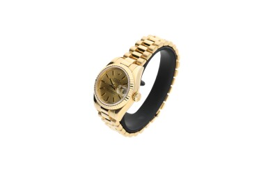 View 3. Thumbnail of Lot 460. ROLEX | REFERENCE 179178 DATEJUST  A YELLOW GOLD AUTOMATIC WRISTWATCH WITH DATE AND BRACELET, CIRCA 2002.