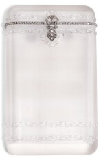 A CARVED ROCK CRYSTAL CIGARETTE CASE WITH PLATINUM MOUNTS, FRENCH, POSSIBLY CARTIER, CIRCA 1905