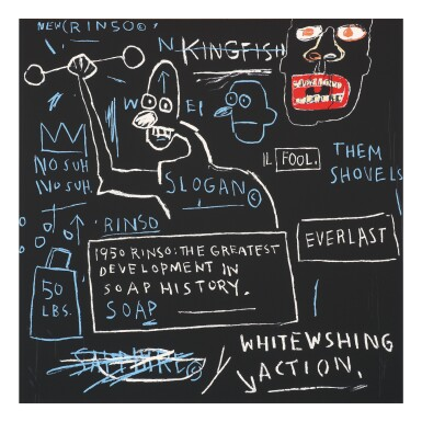 View 5. Thumbnail of Lot 58. AFTER JEAN-MICHEL BASQUIAT | UNTITLED (HEAD; PER CAPITA; ERNOK; AND RINSO).