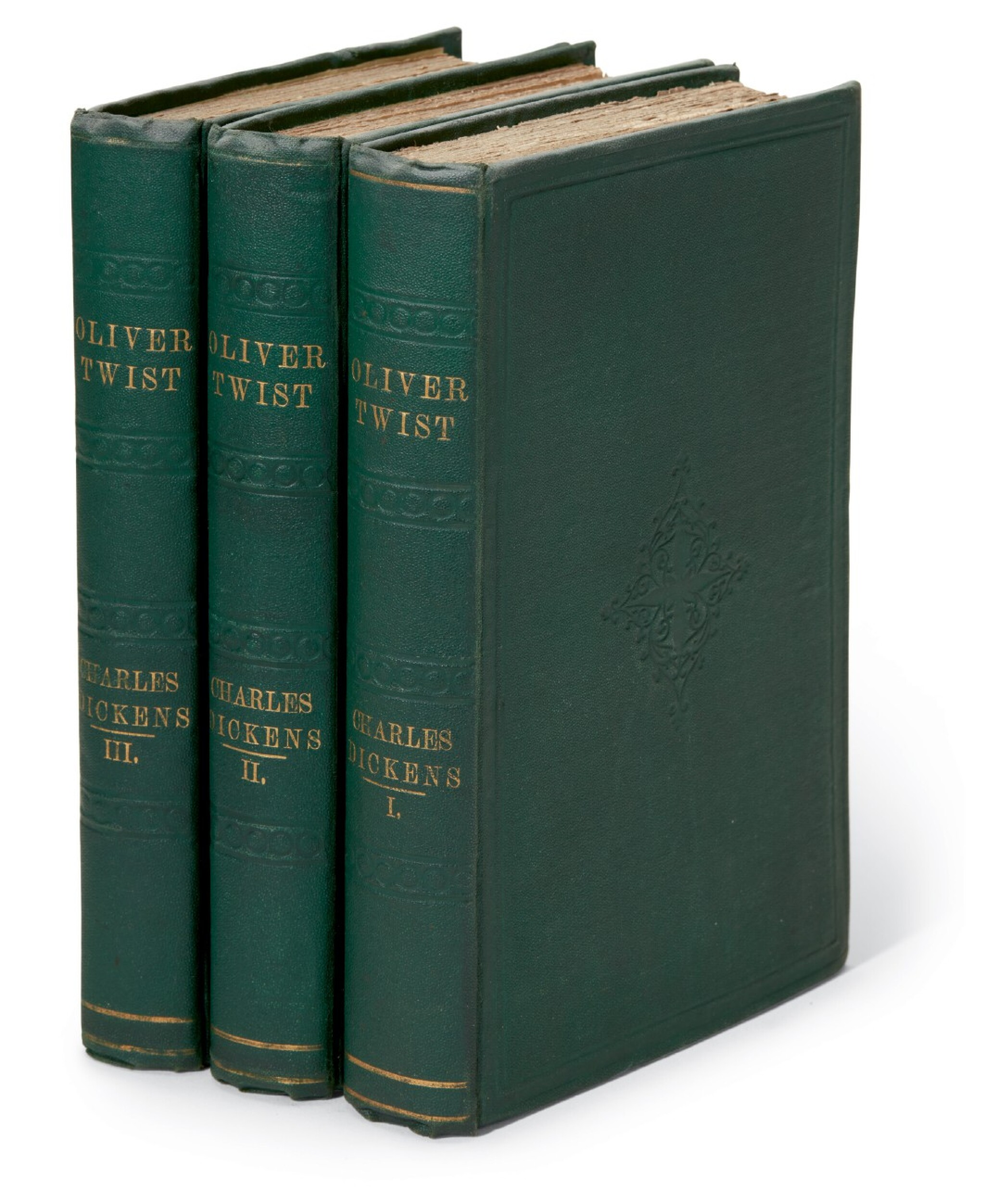 """View full screen - View 1 of Lot 49. Dickens, Oliver Twist, 1841, """"third edition"""", publisher's cloth."""
