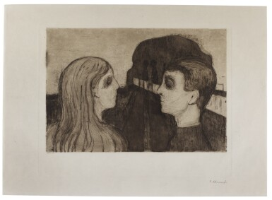 View 1. Thumbnail of Lot 113. EDVARD MUNCH | ATTRACTION II (W. 20; S. 18).