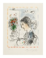 MARC CHAGALL   THE FLOWERING EASEL (M. 1039)