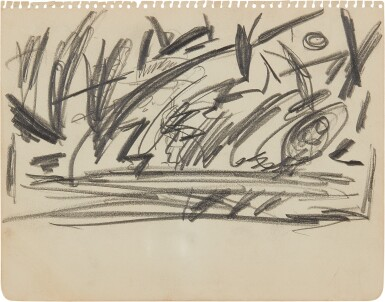 View 2. Thumbnail of Lot 80. Untitled [Double-Sided Drawing].