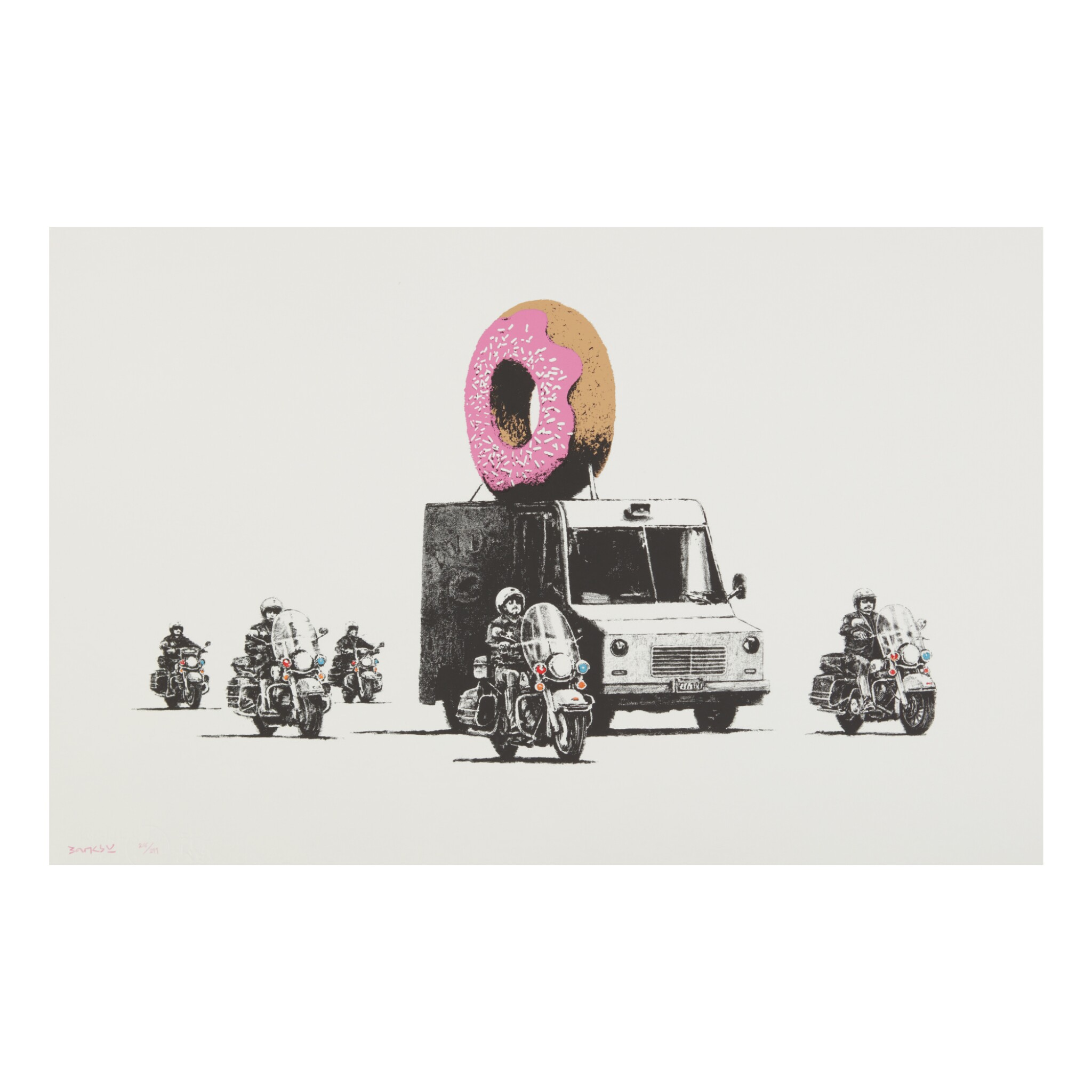 View full screen - View 1 of Lot 184. BANKSY | DONUTS STRAWBERRY.