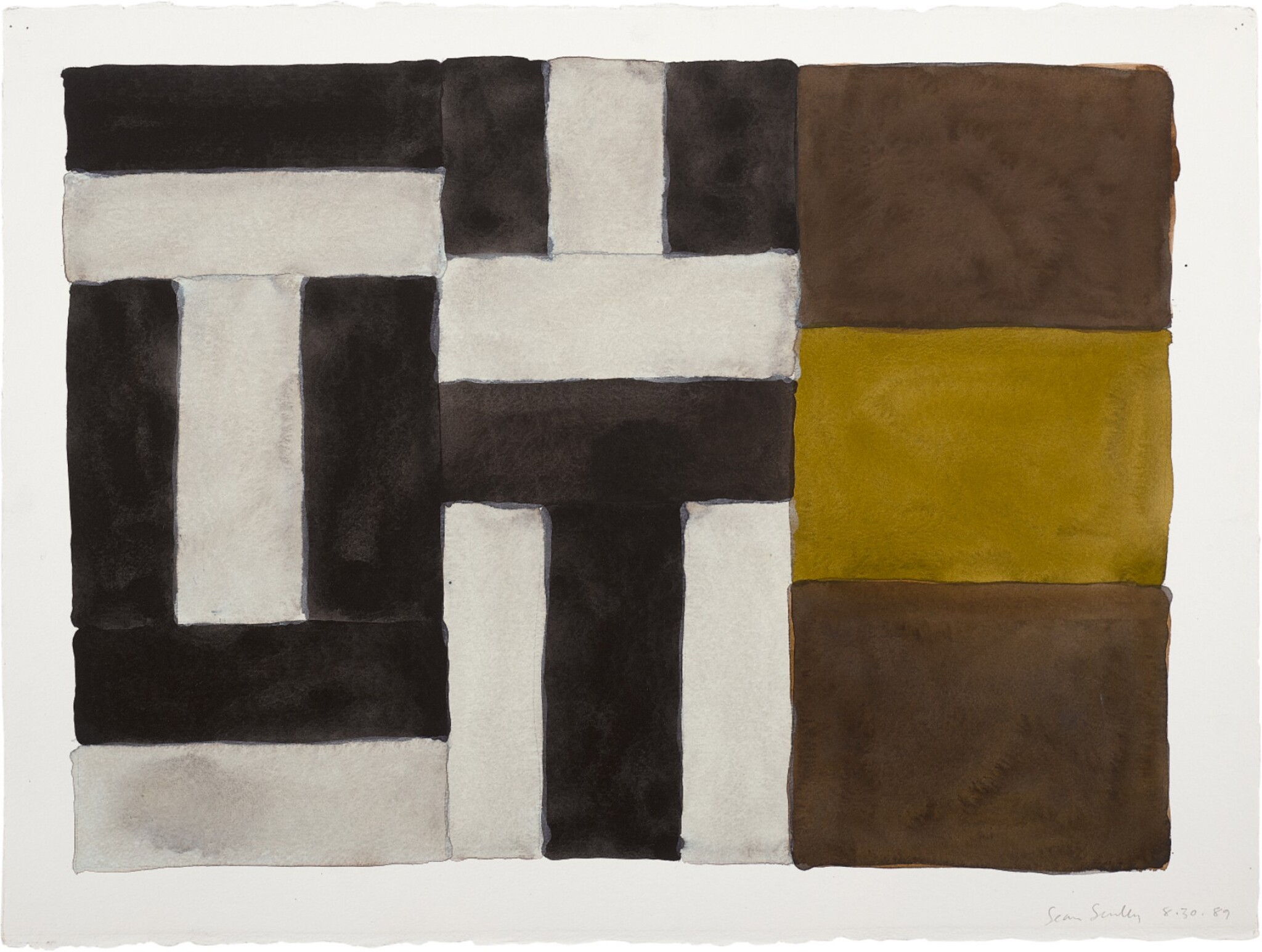 View 1 of Lot 216. SEAN SCULLY | 8.30.89.