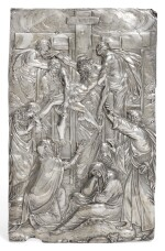 A CONTINENTAL SILVER ALTAR PLAQUETTE, UNMARKED, PROBABLY SOUTH GERMAN OR ITALIAN, 17TH CENTURY