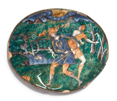 View 1. Thumbnail of Lot 768. plaque of July, from the series of the Months.
