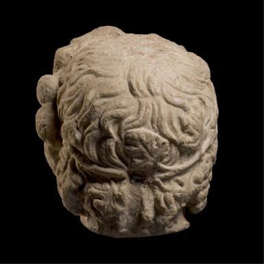 View 4. Thumbnail of Lot 251. A MONUMENTAL ROMAN MARBLE PORTRAIT HEAD OF ANTINOUS AS DIONYSOS-OSIRIS, CIRCA A.D. 130–138.