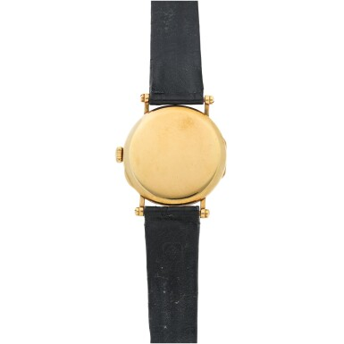 View 5. Thumbnail of Lot 40. REFERENCE 3960J 150TH ANNIVERSARY OFFICIER A LIMITED EDTION YELLOW GOLD WRISTWATCH, MADE IN 1989.